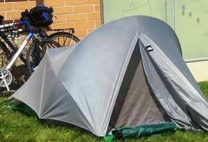 Cycling with a Bivy Tent