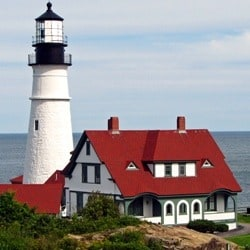 Bicycle touring in Maine
